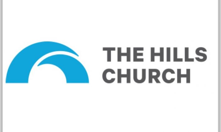 Logo with hills shaped as an H